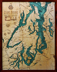 Puget Sound Wood Chart Map