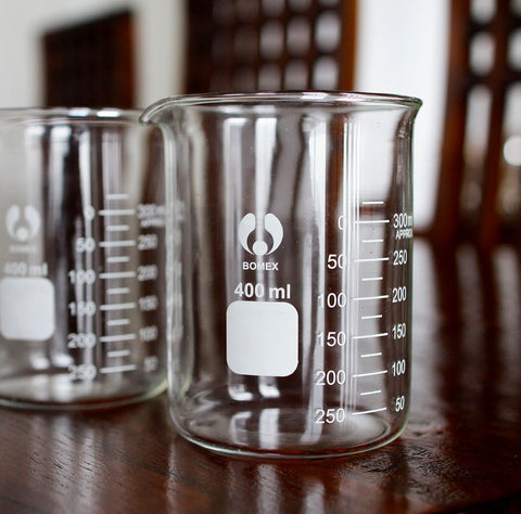 Bunsen Beaker glasses - a set of 6
