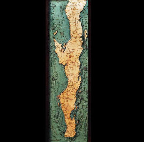 Baja California Wood Chart Map