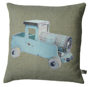 Vintage Blue Truck Pillow