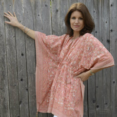 Peasant Tunic in Coral Blossom by Anokhi