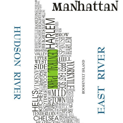 Word Map of Manhattan