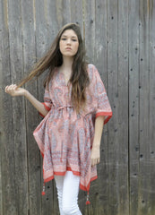 Peasant Tunic in Big Red by Anokhi