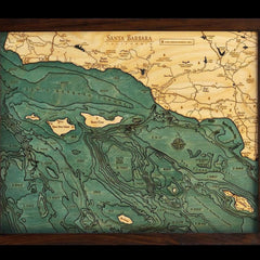 Santa Barbara Wood Chart Map