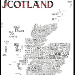 Word Map of Scotland