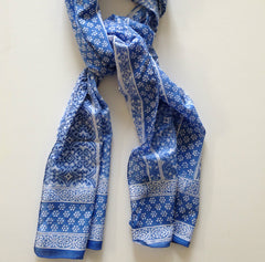 Woven Blue Scarf by Anokhi