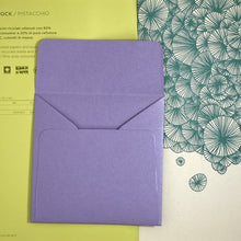Load image into Gallery viewer, Amethyst Square Straight Flap Envelope   110