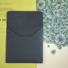 Load image into Gallery viewer, Anthracite Square Straight Flap Envelope   110