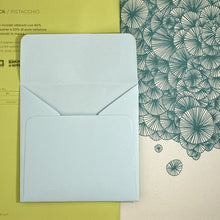 Load image into Gallery viewer, Aquamarine Square Straight Flap Envelope   110