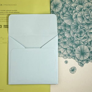 Aquamarine Square Straight Flap Envelope   110