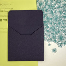 Load image into Gallery viewer, Aubergine Square Straight Flap Envelope   110