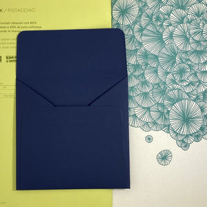 Blu Square Straight Flap Envelope   110