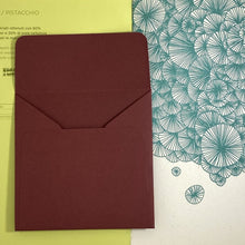 Load image into Gallery viewer, Burgundy Square Straight Flap Envelope   110