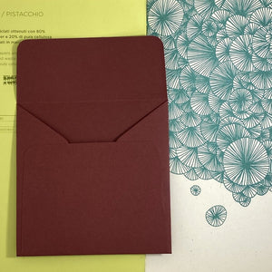 Burgundy Square Straight Flap Envelope   110
