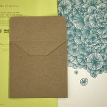 Load image into Gallery viewer, Brown Square Straight Flap Envelope   110