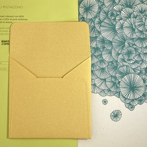 Gold Square Straight Flap Envelope   110