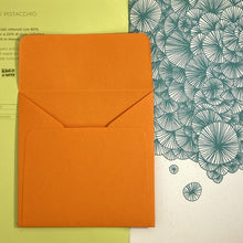 Load image into Gallery viewer, Orange Square Straight Flap Envelope   110