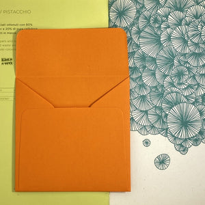 Orange Square Straight Flap Envelope   110