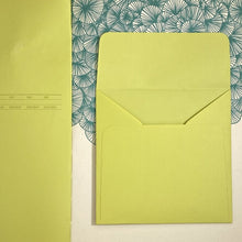 Load image into Gallery viewer, Pistachio Square Straight Flap Envelope   110