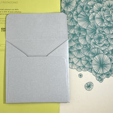 Load image into Gallery viewer, Silver Square Straight Flap Envelope   110