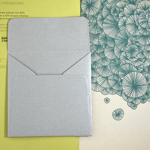 Silver Square Straight Flap Envelope   110