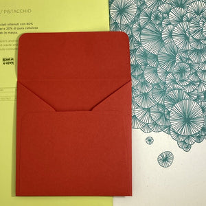 Vermillion Square Straight Flap Envelope   110