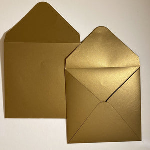 Antique Gold V Flap Envelope   160