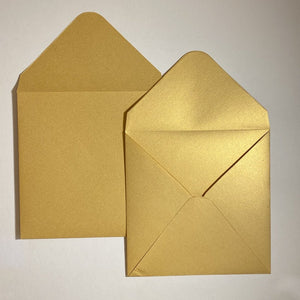 Gold V Flap Envelope   160