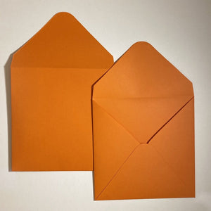 Orange V Flap Envelope   160