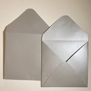 Silver V Flap Envelope   160
