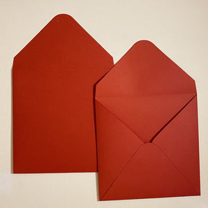 Vermillion V Flap Envelope   160