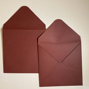 Burgundy V Flap Envelope   160