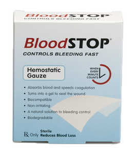 "BloodSTOP® Hemostatic Matrix, 1""x1"" (2.5x2.5cm), 20 pcs/Box - For Medical Professionals - LifeSciencePlus"