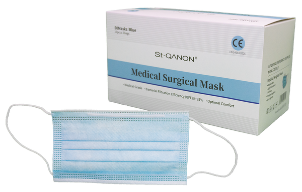 Medical Surgical Masks for COVID-19 Protection- Box of 50 - LifeSciencePlus