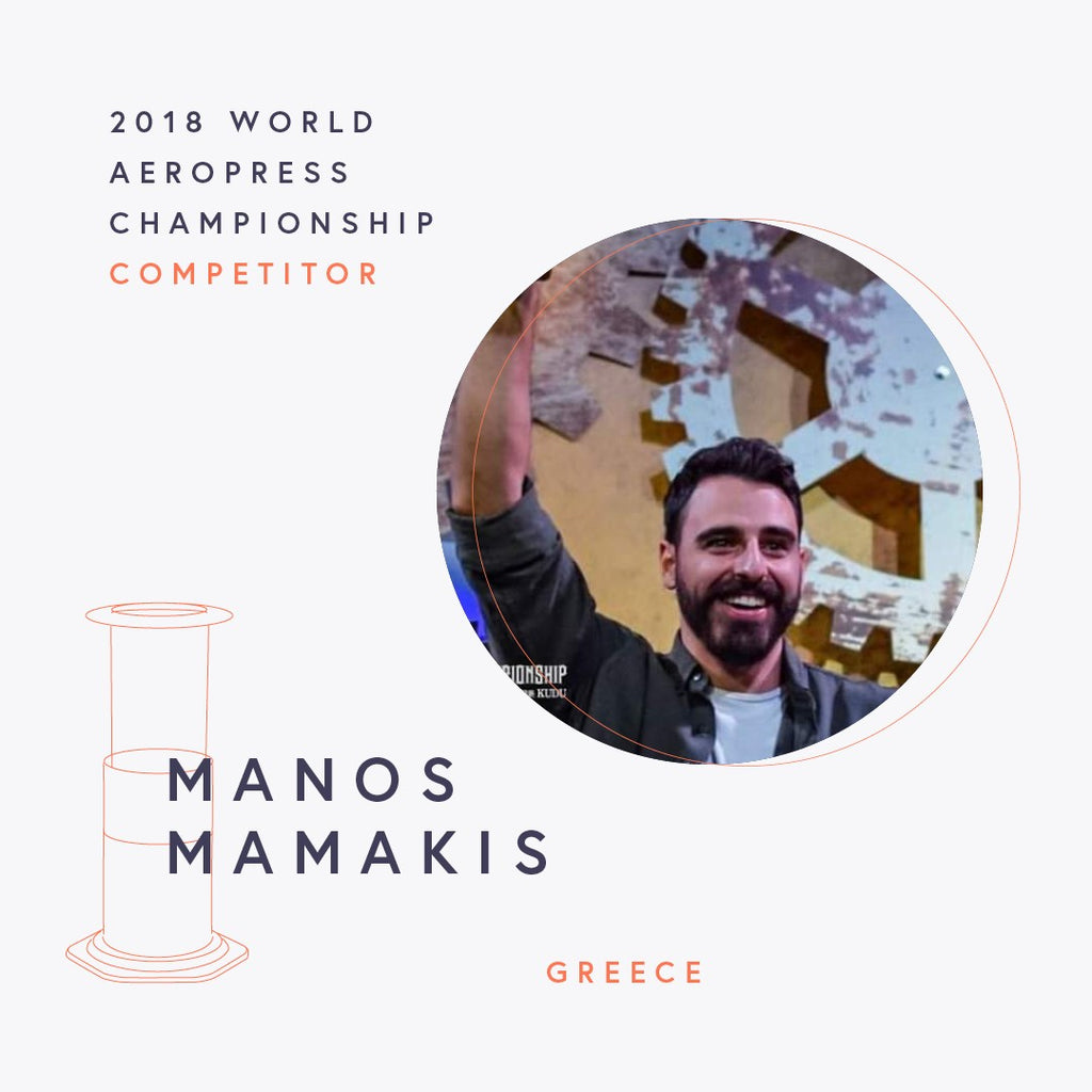 The World AeroPress Championships: Manos Mamakis