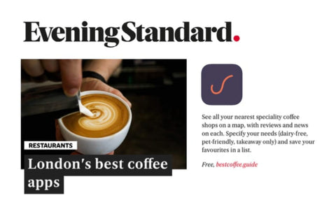 Best Coffee featured on the Evening Standard