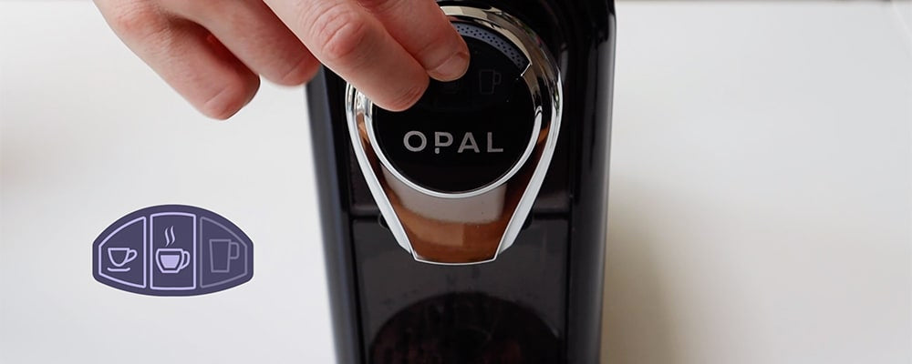 Opal One setting the temperature - hold down the left and middle buttons