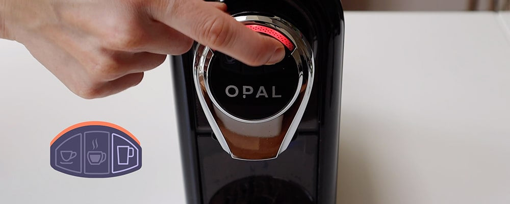 Setting the temperature OPAL Machine - Select the far right button