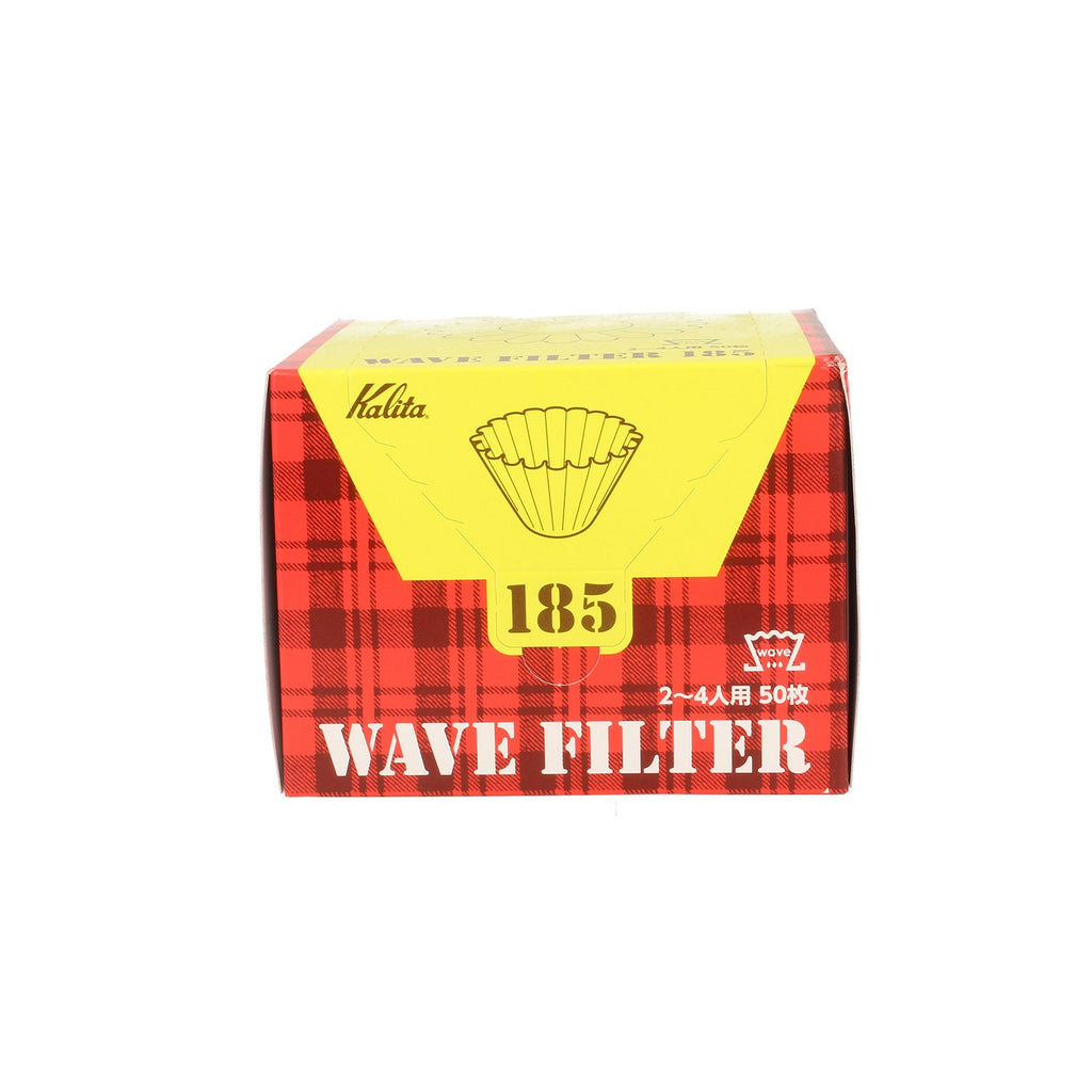 Kalita Wave #185 - White Coffee Filter Papers Package (50pc)