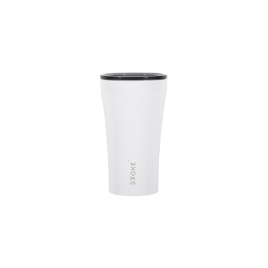 Sttoke Reusable Coffee Cup 12oz (Angel White)