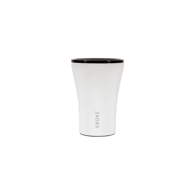Sttoke Reusable Coffee Cup 8oz (Angel White)