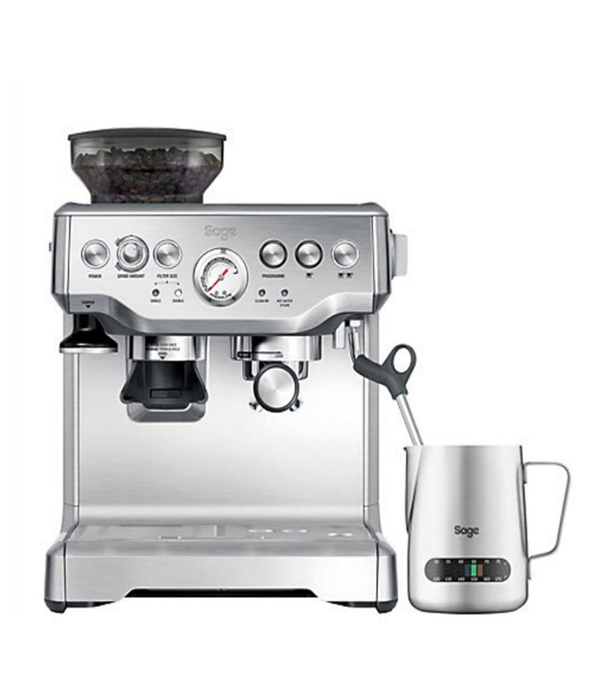 Sage The Barista Express Espresso Machine With Temp Control Milk Jug