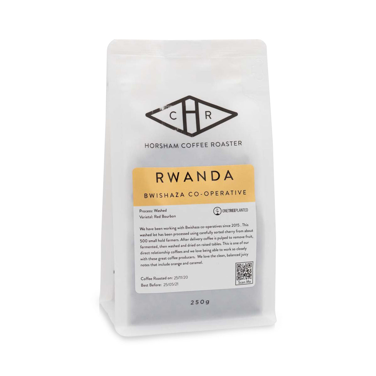 Horsham Coffee Roaster - Rwanda Filter Coffee Beans - Bwishaza Lot 6 Washed - 250g