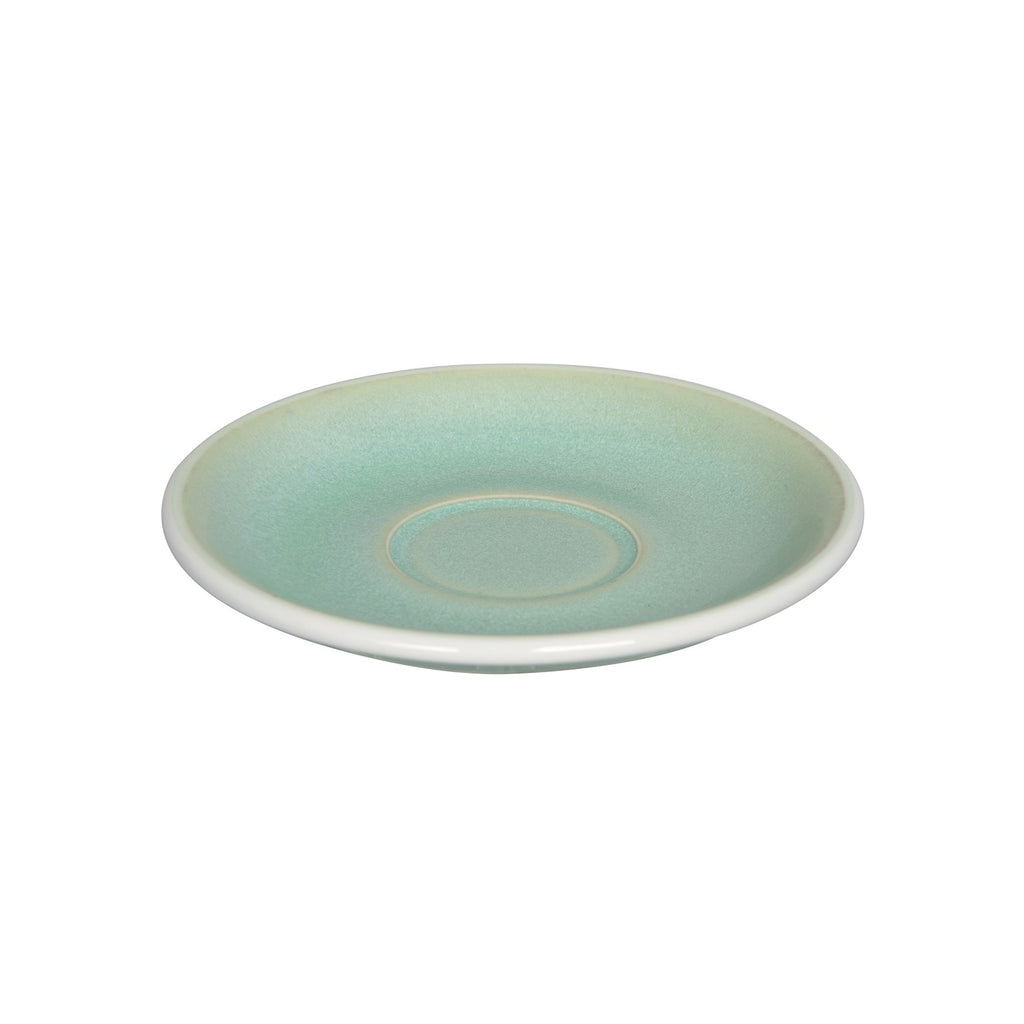 Loveramics Reactive Glaze Potters Flat White / Cappuccino Saucer (Basil) 14.5cm