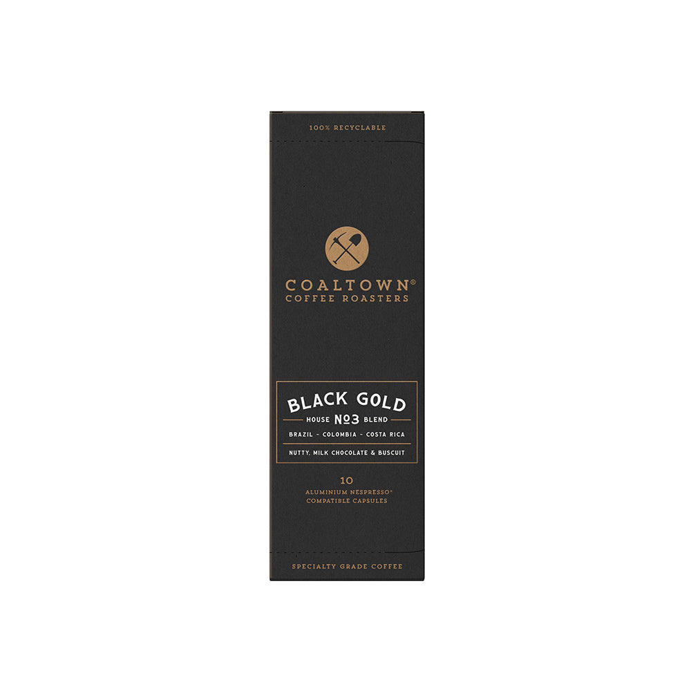 Coaltown Coffee Roasters - Black Gold Pods - 10 Recyclable Coffee Pods