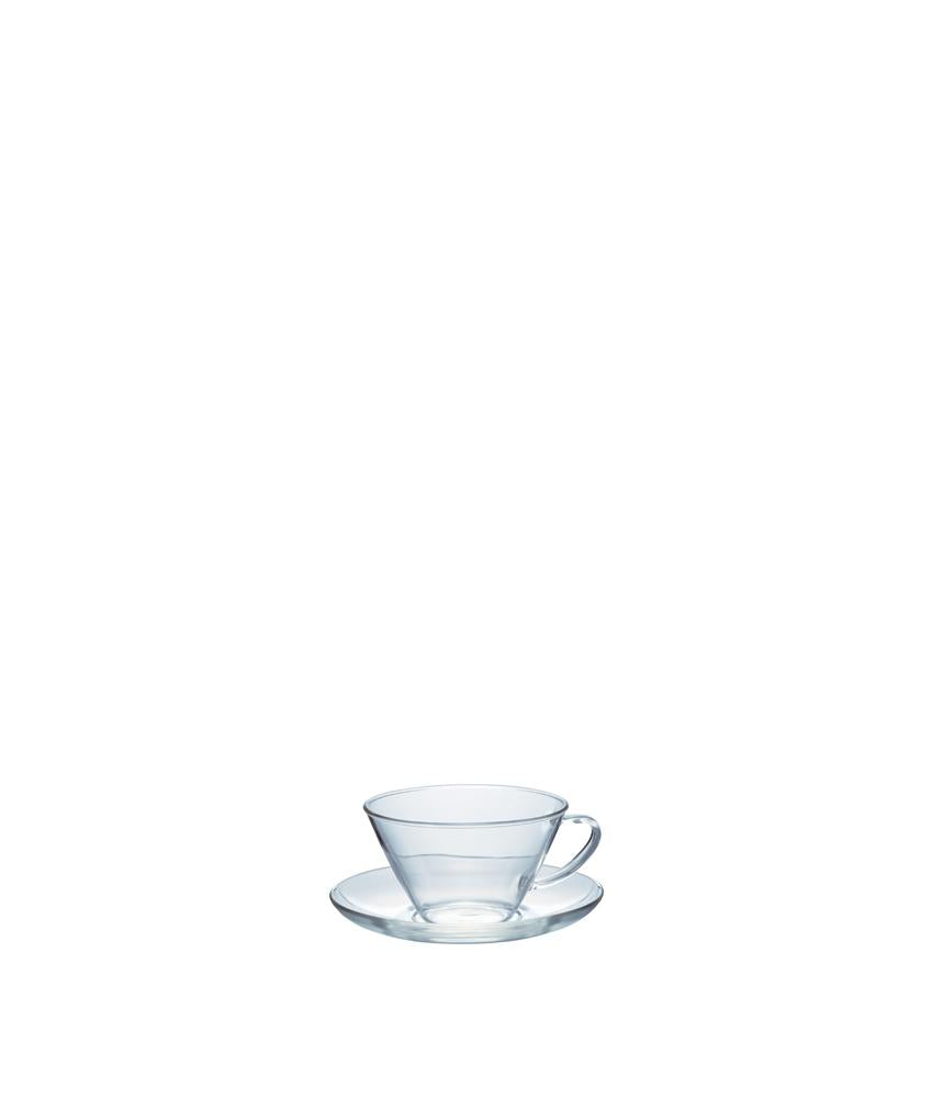 Hario Wide Glass Cup & Saucer