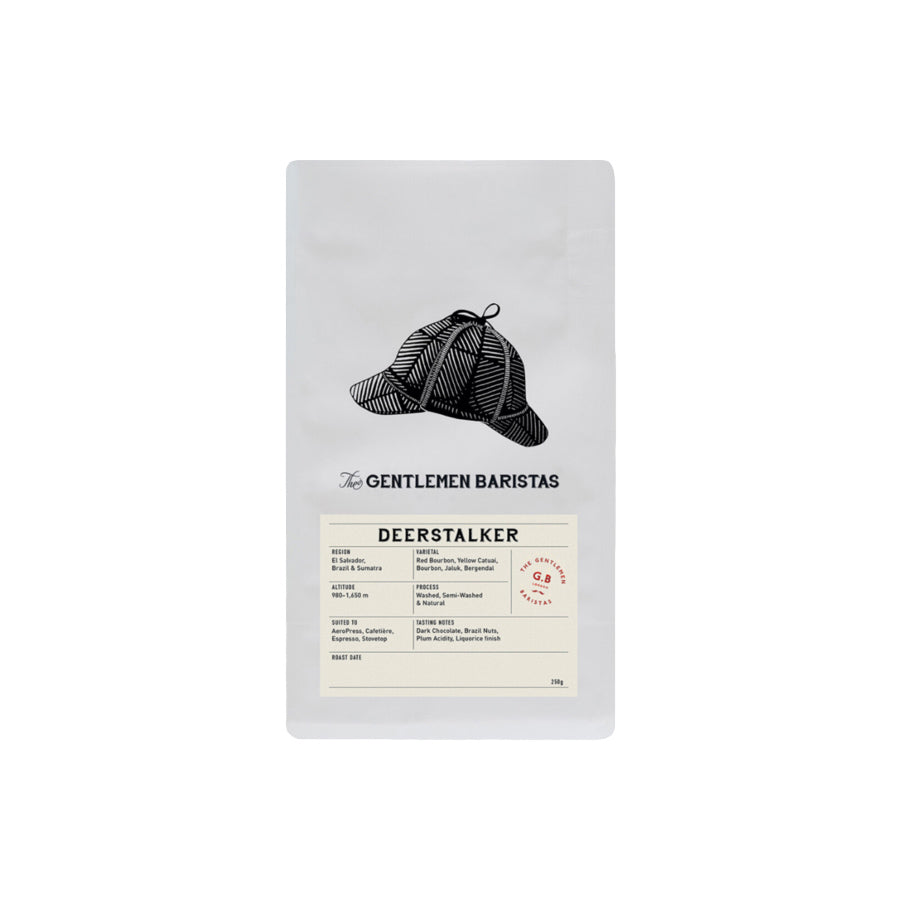 The Gentlemen Baristas - Deerstalker - Blend El Salvador & Brazil - Coffee Beans - 250g