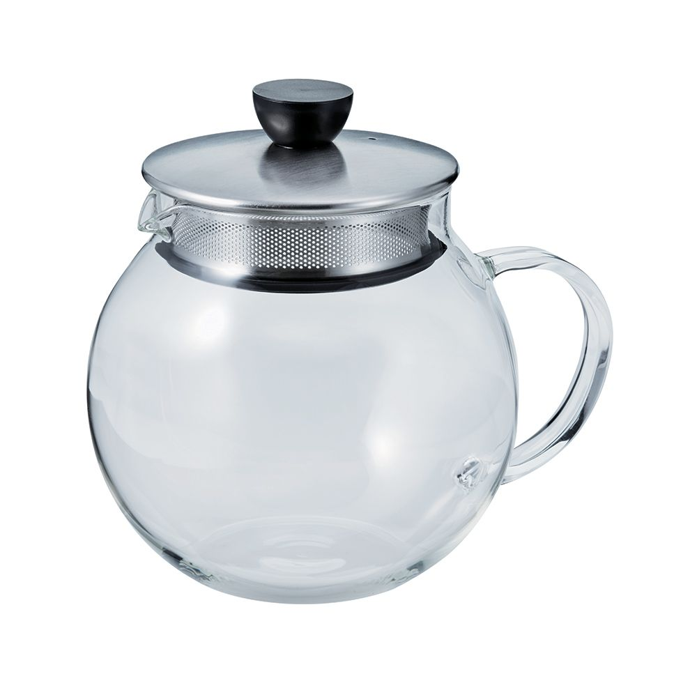 Hario Jumping Leaf Tea Pot (Silver) 600ml