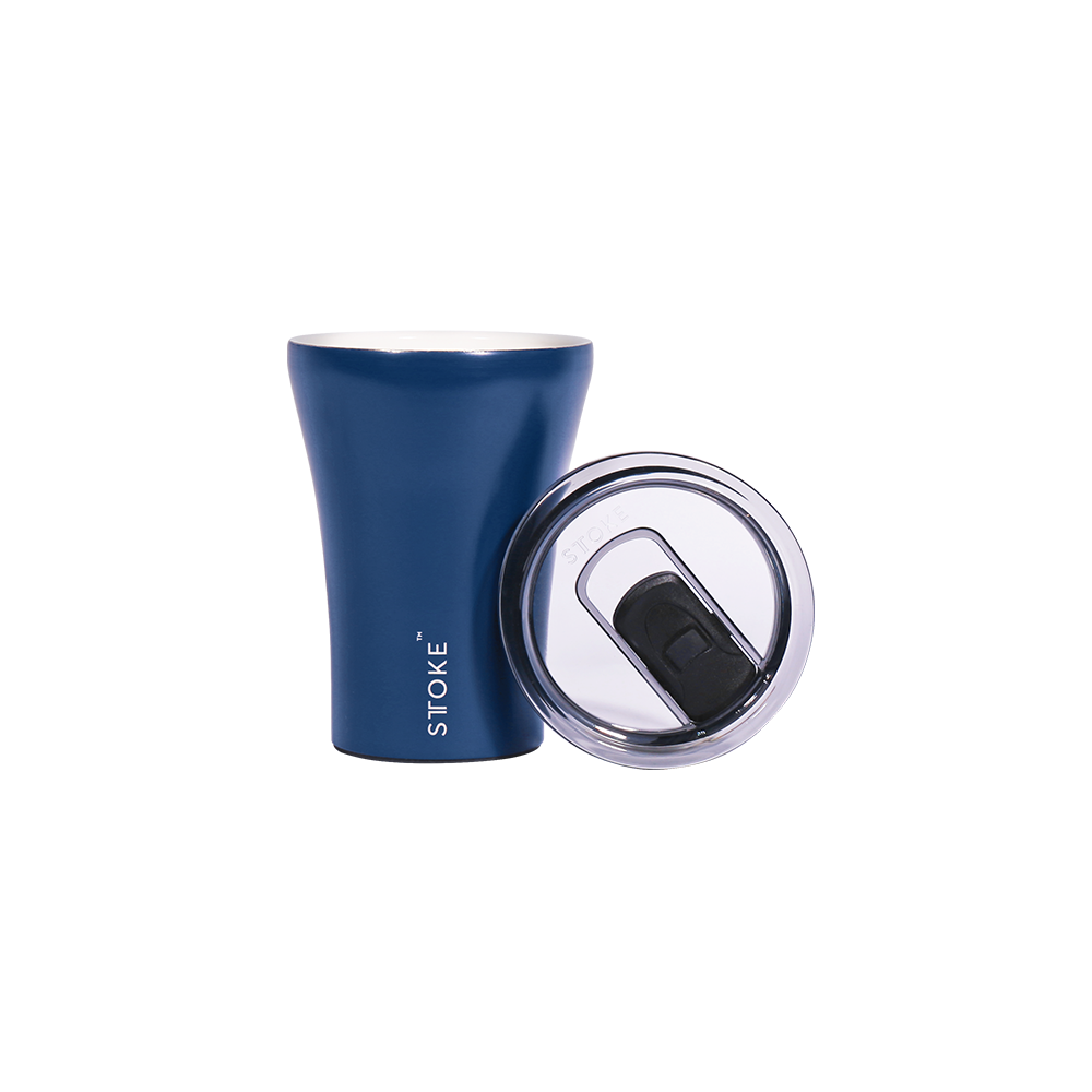 Sttoke Reusable Coffee Cup 8oz (Magnetic Blue)