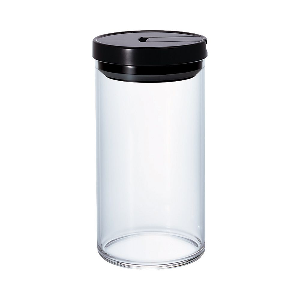 Hario Glass Coffee Bean Canister (Black) 1L